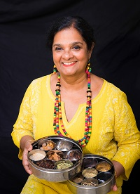 Mukti Banerjee is an accomplished teacher of Indian cooking.